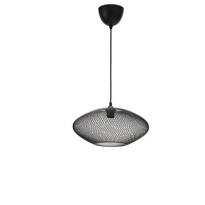 LUFTMASSA / HEMMA Taklampa, ovalmönstrad/svart, 37 cm