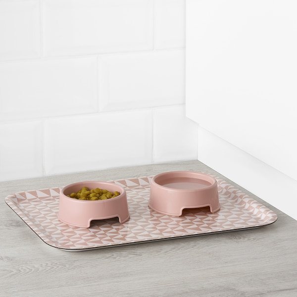LURVIG Skål, rosa, 0.3 l