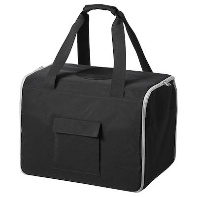 LURVIG Transportväska för husdjur, svart/grå