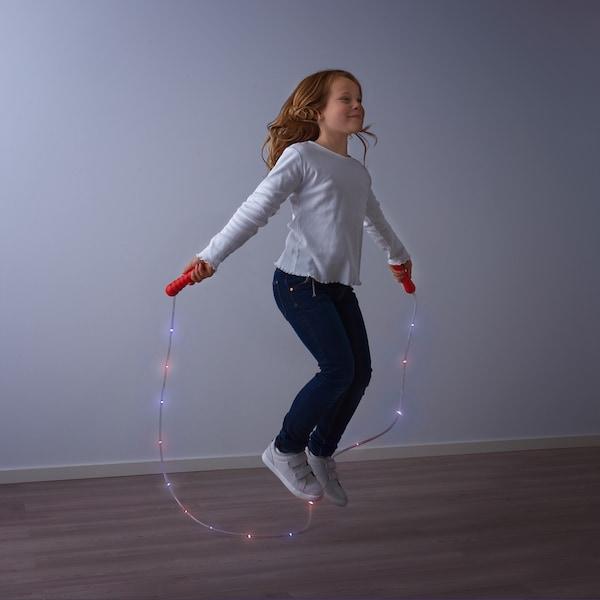 LUSTIGT hopprep med LED 235 cm 17 cm 11 cm