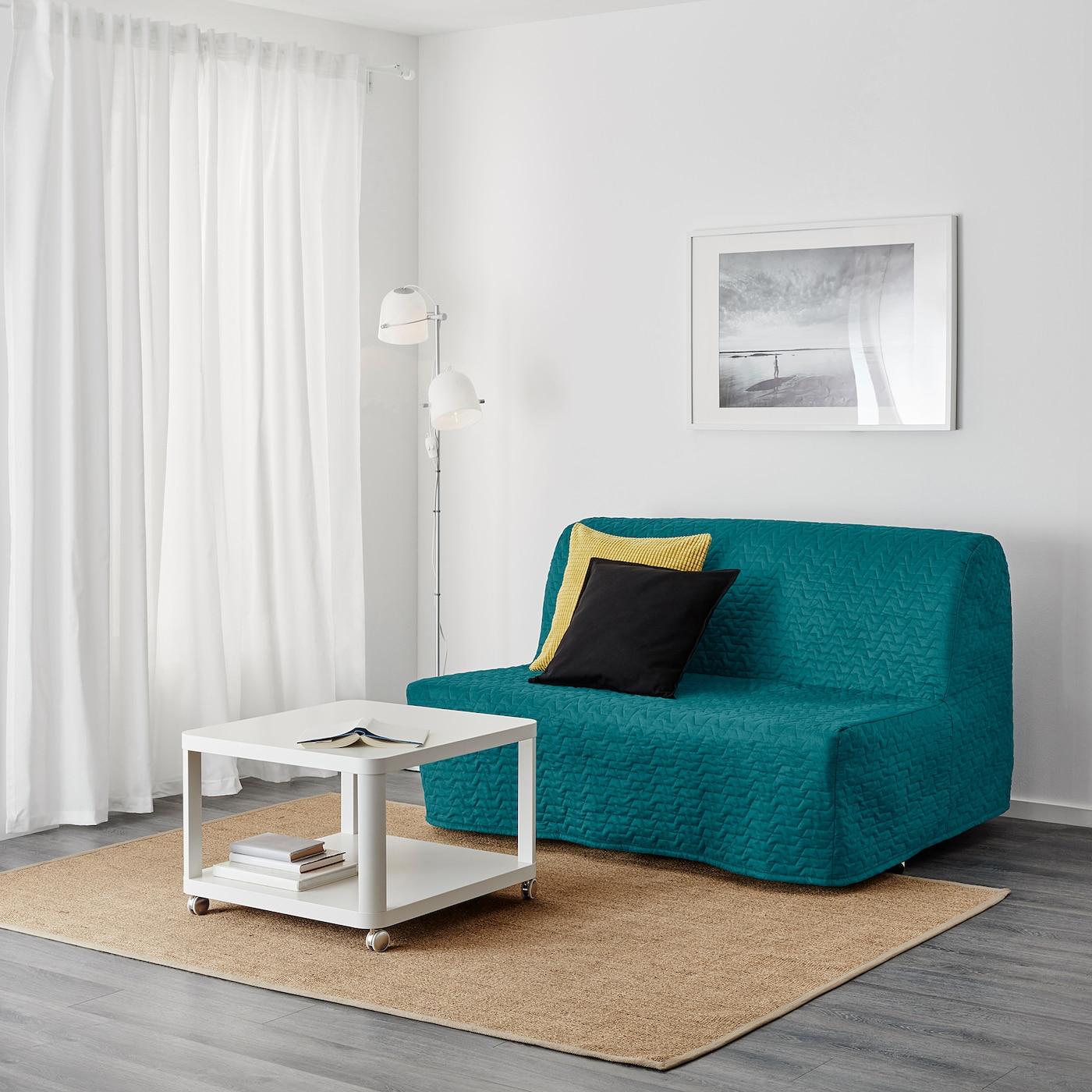 LYCKSELE LÖVÅS 2 sits bäddsoffa Ebbarp svartvit IKEA