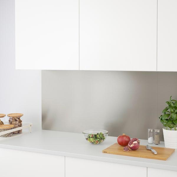 LYSEKIL Väggplatta, dubbelsidig mässingsfärgad/rostfritt stålfärg, 119.6x55 cm