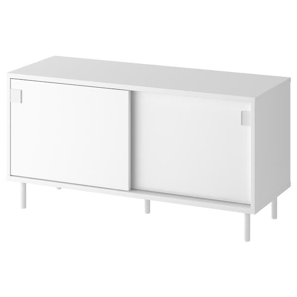 MACKAPÄR Bänk med förvaringsfack, vit, 100x51 cm