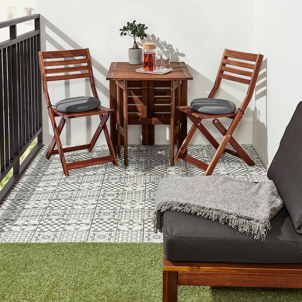 MÄLLSTEN trall, utomhus grå/vit 0.81 m² 30 cm 30 cm 2 cm