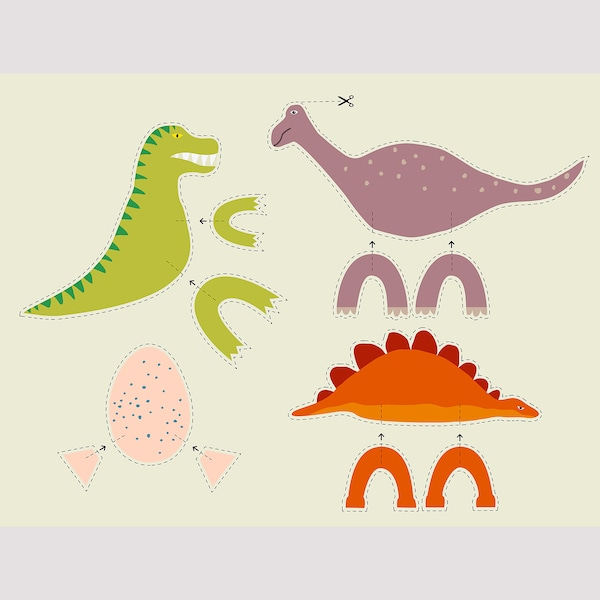 MÅLA Pysselbok, dinosaurie