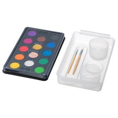MÅLA Vattenfärgslåda, mixade färger