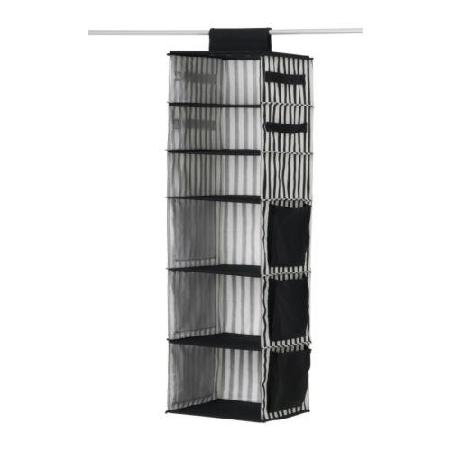 MÄLLA Förvaringsfack svart, vit Bredd: 32 cm Djup: 35 cm Höjd: 110 cm