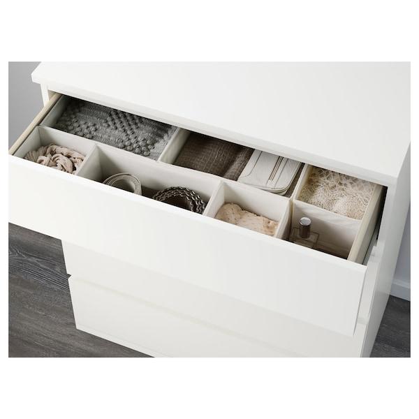 MALM Byrå med 4 lådor, vit, 80x100 cm