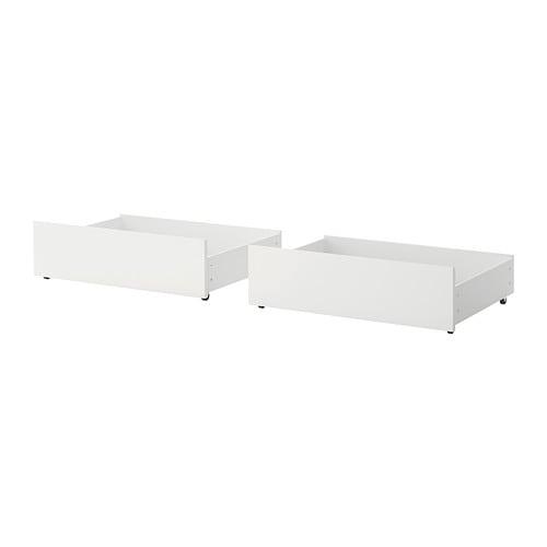 MALM Sänglåda för hög sängstomme vit IKEA