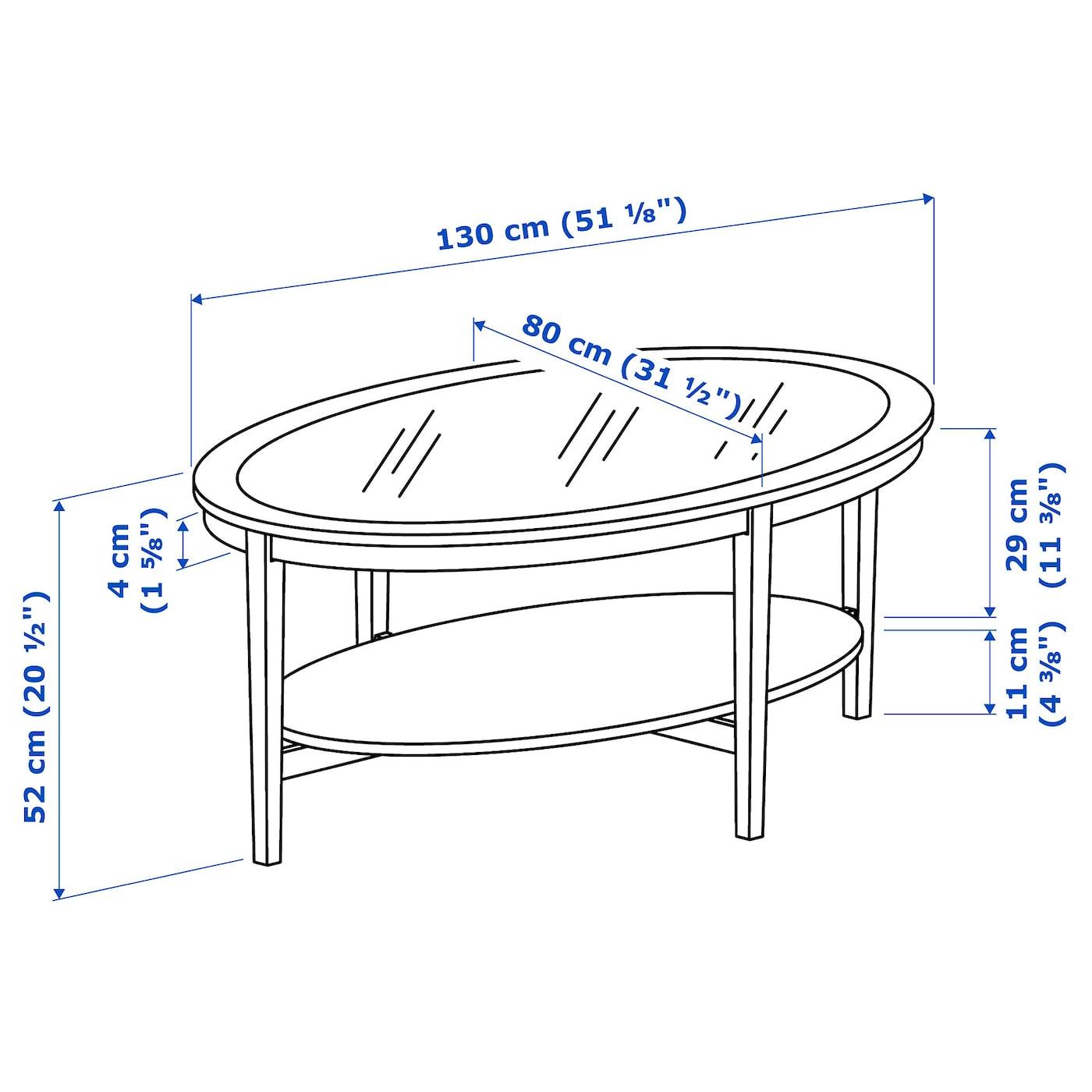 MALMSTA Soffbord, svartbrun, 130x80 cm IKEA
