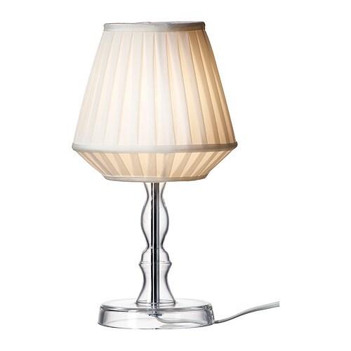 MARBY Bordslampa IKEA Skärm av textil; ger ett mjukt och dekorativt ljus.