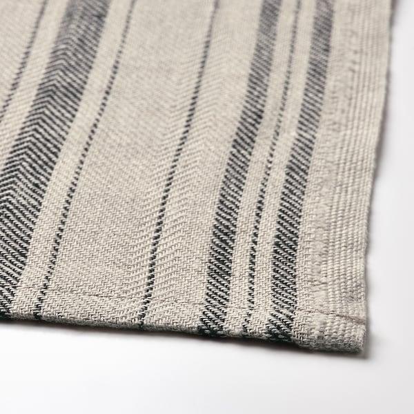 MARIATHERES Kökshandduk, linne beige/rand, 50x70 cm