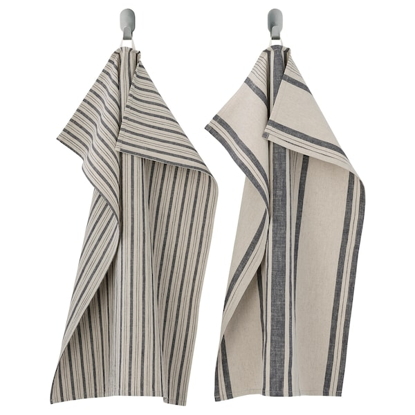 MARIATHERES Kökshandduk, rand/grå beige, 50x70 cm