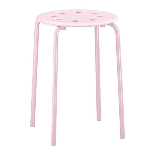 MARIUS Pall IKEA Stapelbar; spar plats när den inte används.