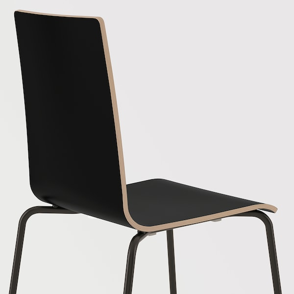 MARTIN stol svart/svart 100 kg 49 cm 52 cm 86 cm 38 cm 38 cm 45 cm
