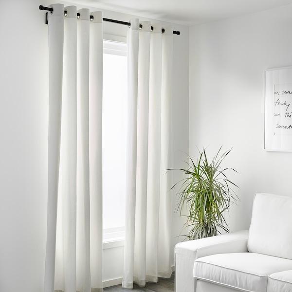 MERETE Rumsförmörkande gardiner, 1 par, vit, 145x250 cm