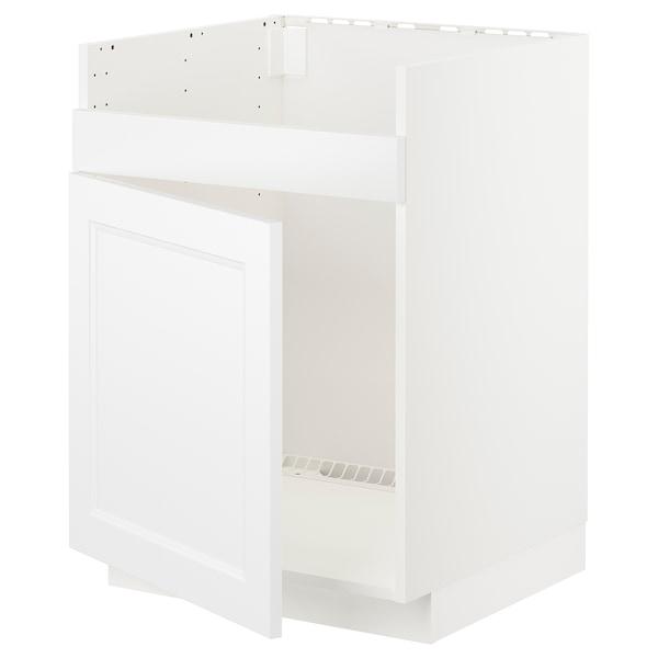 METOD Bänkskåp f diskhon HAVSEN m 1 ho, vit/Axstad matt vit, 60x60 cm