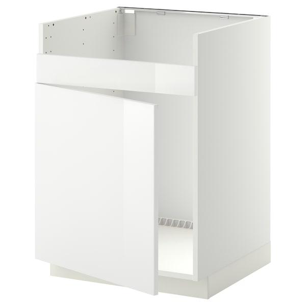 METOD Bänkskåp f diskhon HAVSEN m 1 ho, vit/Ringhult vit, 60x60 cm