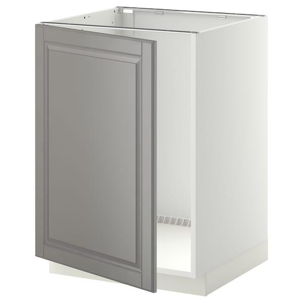 METOD Bänkskåp för diskbänk, vit/Bodbyn grå, 60x60 cm