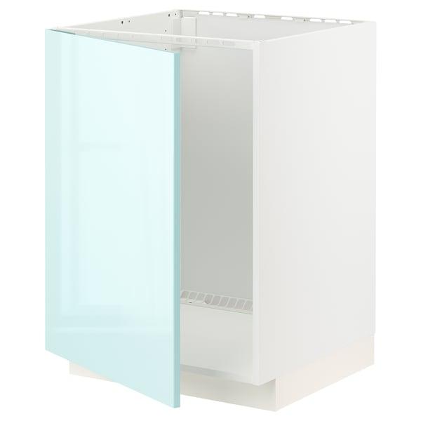 METOD Bänkskåp för diskbänk, vit Järsta/högglans ljusturkos, 60x60 cm