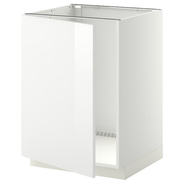 METOD Bänkskåp för diskbänk, vit/Ringhult vit, 60x60 cm