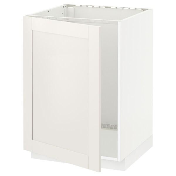 METOD Bänkskåp för diskbänk, vit/Sävedal vit, 60x60 cm