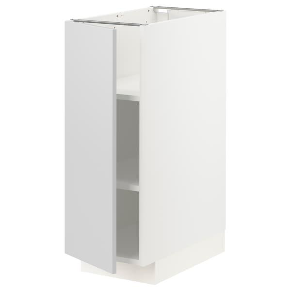 METOD Bänkskåp med hyllplan, vit/Veddinge grå, 30x60 cm