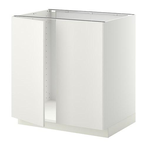 metod b nksk p f r diskb nk 2 d rrar vit veddinge vit 80x60 cm ikea. Black Bedroom Furniture Sets. Home Design Ideas