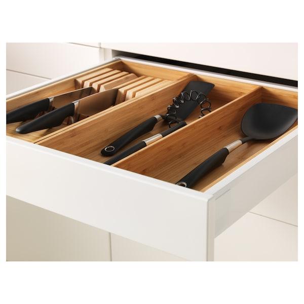 METOD / MAXIMERA Bänksk 3 frnt/2 låg/1 md/1 hög låda, vit/Bodbyn off-white, 60x60 cm