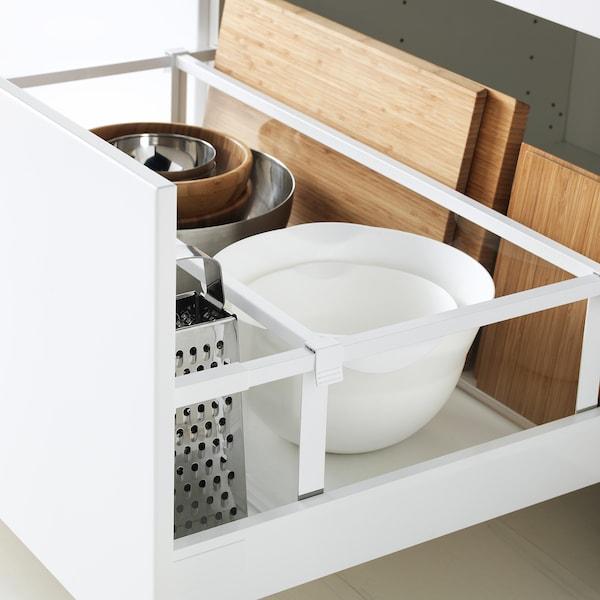 METOD / MAXIMERA Bänkskåp 2 fronter/2 höga lådor, vit/Ringhult vit, 80x60 cm