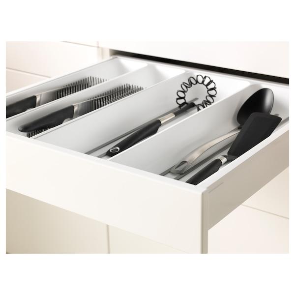 METOD / MAXIMERA Högskåp f ugn/komb ugn m dr/2 lådor, vit/Bodbyn grå, 60x60x220 cm