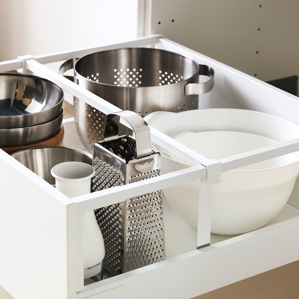 METOD / MAXIMERA Högskåp med lådor, vit/Ringhult vit, 60x60x200 cm