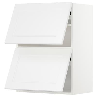 METOD Väggsk horis 2 dörrar m tryck-öppna, vit/Axstad matt vit, 60x80 cm