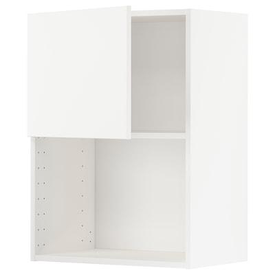 METOD Väggskåp för mikrovågsugn, vit/Veddinge vit, 60x80 cm