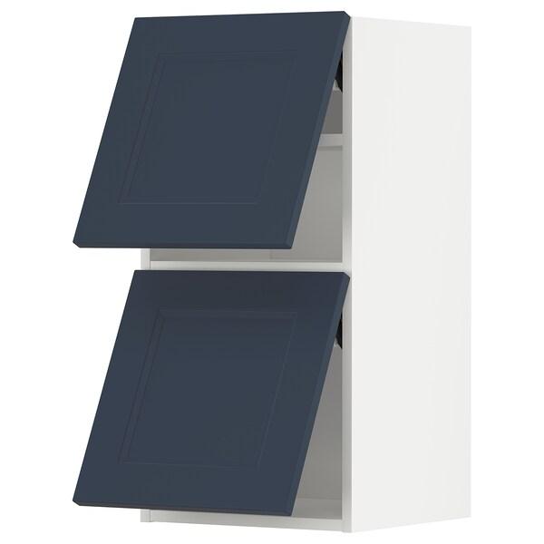METOD Väggskåp horisontalt med 2 dörrar, vit Axstad/matt yta blå, 40x80 cm