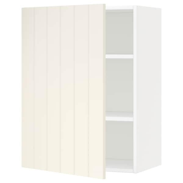 METOD Väggskåp med hyllplan, vit/Hittarp off-white, 60x80 cm