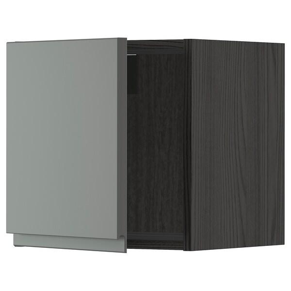 METOD Väggskåp, svart/Voxtorp mörkgrå, 40x40 cm