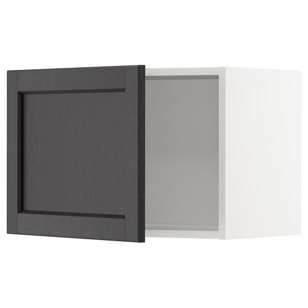 METOD Väggskåp, vit/Lerhyttan svartlaserad, 60x40 cm