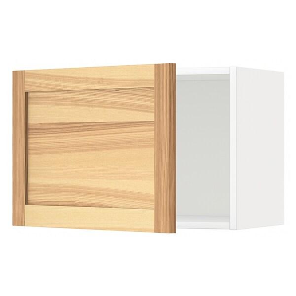METOD Väggskåp, vit/Torhamn ask, 60x40 cm