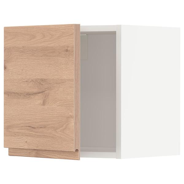 METOD Väggskåp, vit/Voxtorp ekmönstrad, 40x40 cm