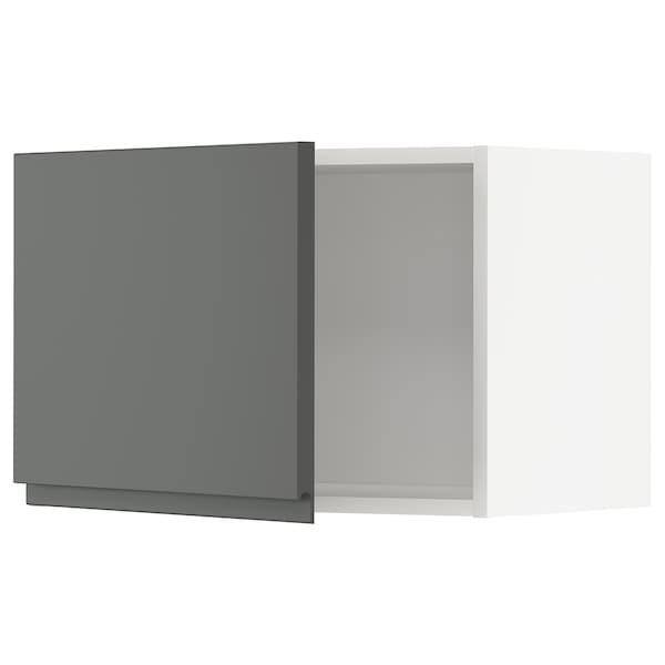 METOD Väggskåp, vit/Voxtorp mörkgrå, 60x40 cm