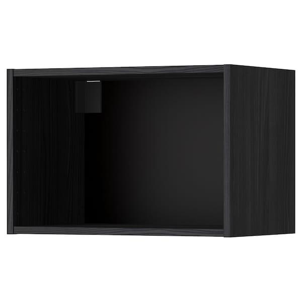 METOD Väggskåpsstomme, trämönstrad svart, 60x37x40 cm