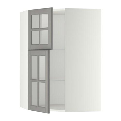 Ikea Kok Bodbyn Gra : METOD Vogghornsk m hyllpl2 vitrindorrar  vit, Bodbyn gro  IKEA
