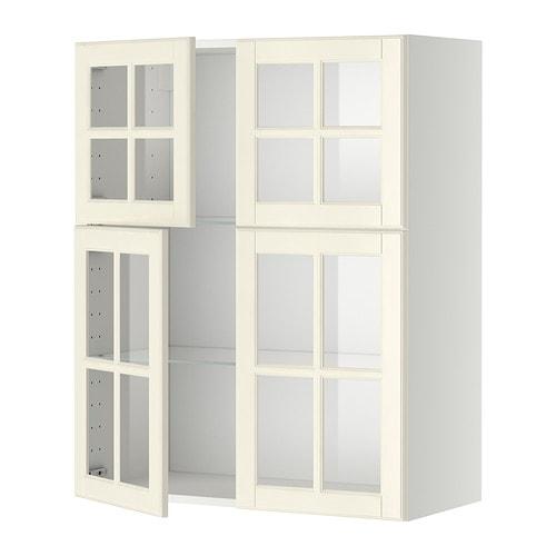 Metod v ggsk p m hyllplan 4 vitrind rrar vit bodbyn off for Ikea vetrine in vetro