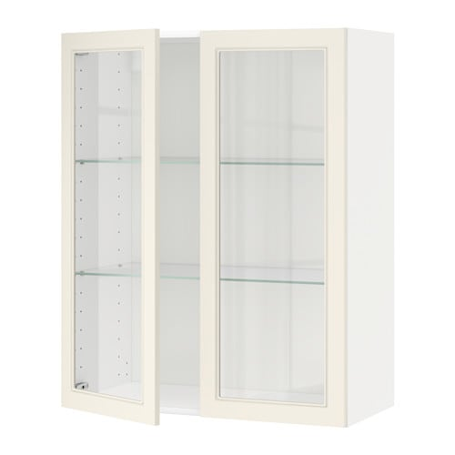 Metod v ggsk p m hyllplan 2 vitrind rrar vit hittarp for Ikea vetrine in vetro