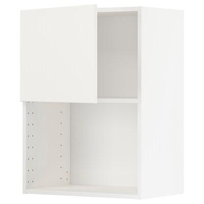 METOD väggskåp för mikrovågsugn vit/Häggeby vit 60.0 cm 38.6 cm 80.0 cm
