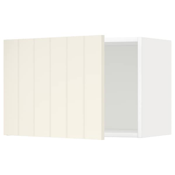 METOD väggskåp vit/Hittarp off-white 60.0 cm 38.8 cm 40.0 cm