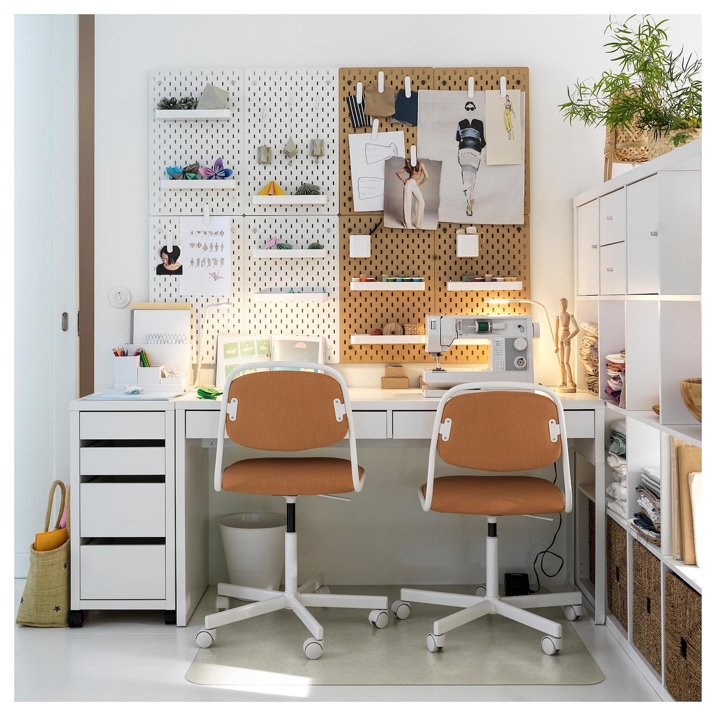 MICKE Skrivbord, svartbrun, 142x50 cm IKEA