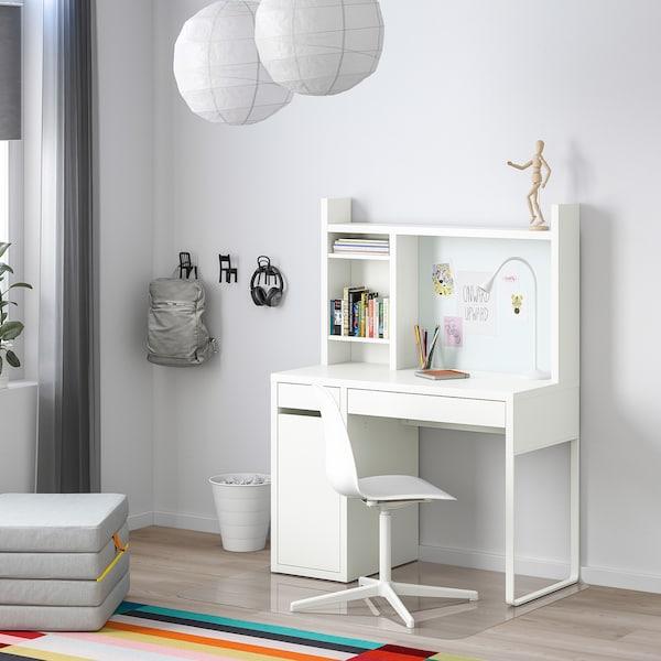 MICKE Skrivbord, vit, 105x50 cm