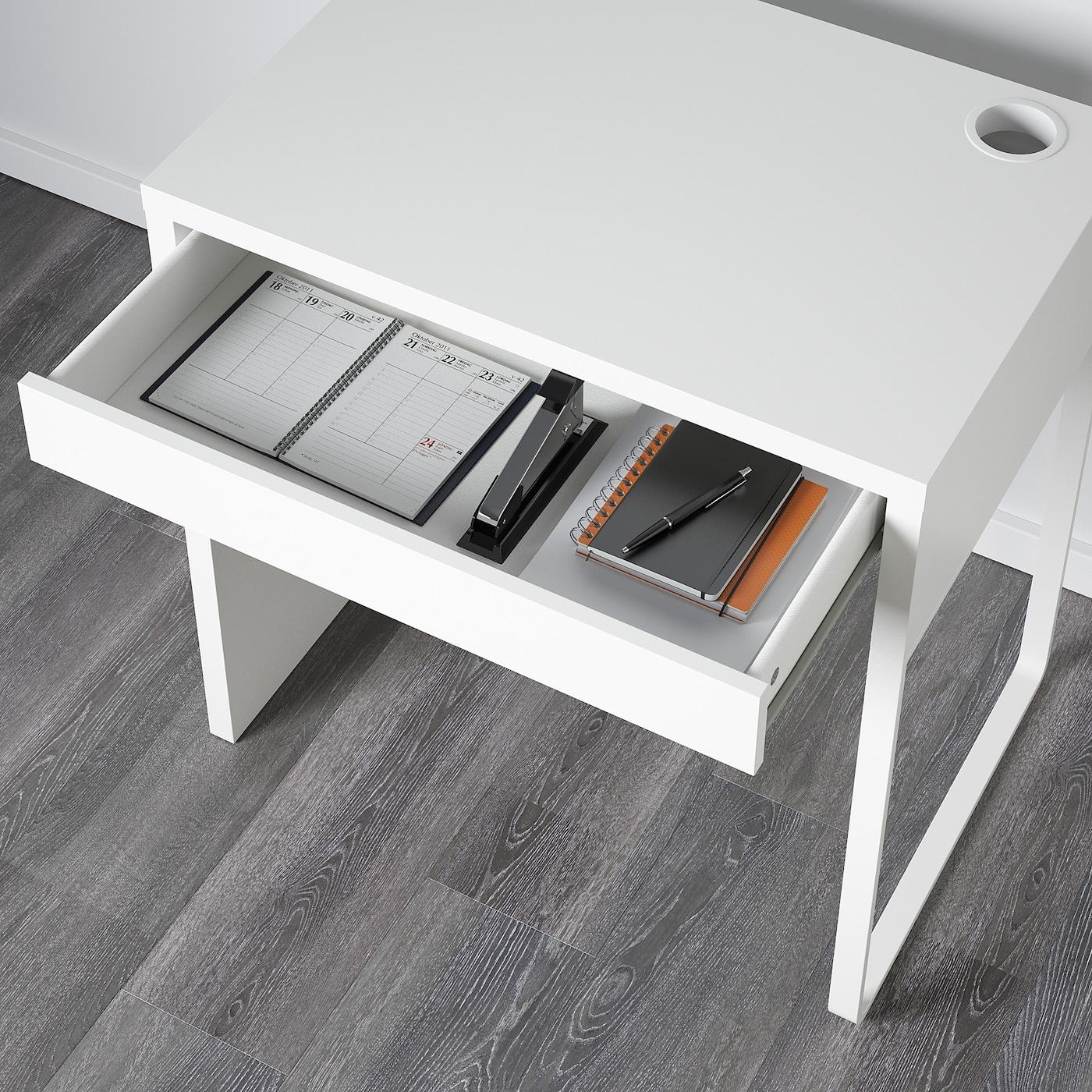 MICKE Skrivbord, vit, 73x50 cm IKEA